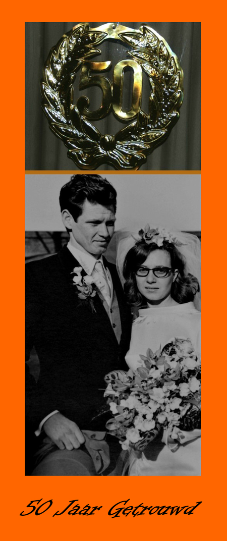 50 jaar getrouwd - 27 maart 1968 . Marian en Peter trouwden toen.     Nu 50 jaar later. - foto door majvangooreg op 26-03-2018 - deze foto bevat: bruid