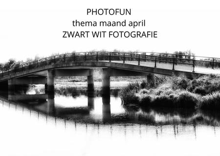 PhotoFun - Voor de liefhebbers: Ik heb een groepje aangemaakt hier op ZOOM. PhotoFun. De groep bestaat al langer op facebook maar omdat daar de kwaliteit regelm - foto door onne1954 op 08-04-2021 - deze foto bevat: photofun, themafotografie, water, waterloop, bank, natuurlijk landschap, meer, landschap, lettertype, symmetrie, brug, boogbrug