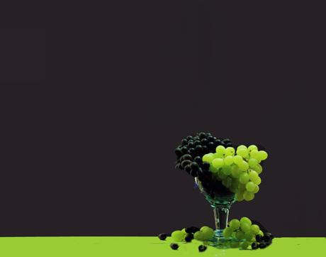 Glas met druiven