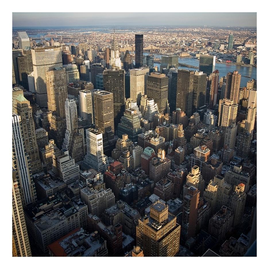 NYC - New York vanaf het Empire State Building - foto door Octo op 13-01-2010 - deze foto bevat: New York, Empire State Building
