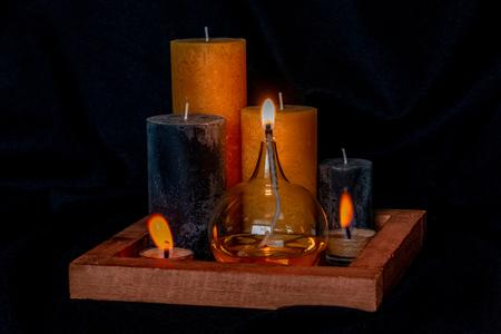 Stille nacht - Een kaarsen stilleven. - foto door Jeam op 07-02-2021 - deze foto bevat: stilleven