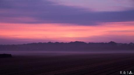Zonsopkomst met mist