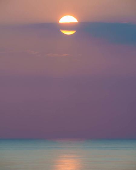 Zonsondergang - - - foto door jrvanalphen op 15-06-2020 - deze foto bevat: zee, zonsondergang, katwijk, lange sluitertijd