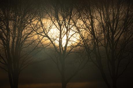 Zonsondergang in Blesdijke