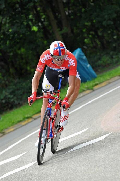 Boasson Hagen tijdens tijdrit EnecoTour te Genk