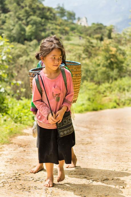 Hmong girls in Sapa
