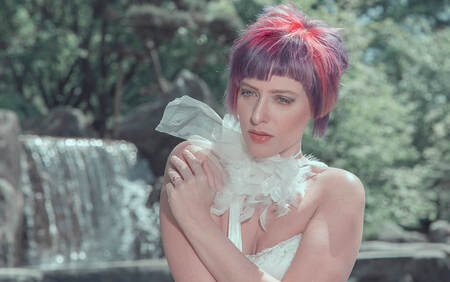 Waterval en Claudia - - - foto door boehle op 30-08-2019 - deze foto bevat: model, fashion, beauty, glamour, makeup, fashionfotografie