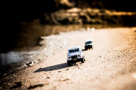 Land Rover Defender on tour