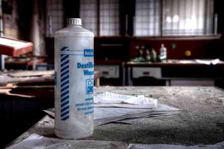 VEB Globus werke 1 - Op 22-11-2010 hebben Jos en ik een bezoek aan deze fabriek gebracht. In deze fabriek werden poets e.d. gemaakt voor auto's  Het is een hdr foto.  - foto door Jascha_400D op 08-12-2011 - deze foto bevat: oud, old, time, in, lost, germany, verboden, verlaten, vervallen, hdr, forbidden, duitsland, forgotten, ddr, tonemapping, decay, hoste, jascha, ue, VEB, werke, VEB Globus werke, Globus