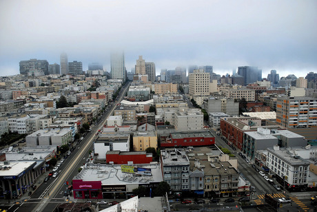 A cloudy day in San Fransico