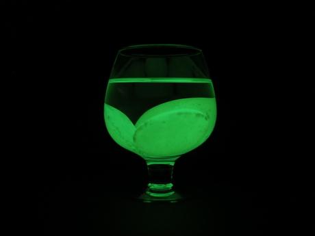 Glow in the dark glass