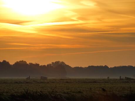 Een mooie, vroege herfstmorgen
