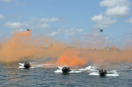 marine in actie.