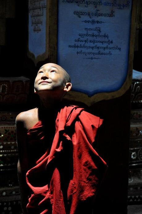 Jonge Birmeese monnik
