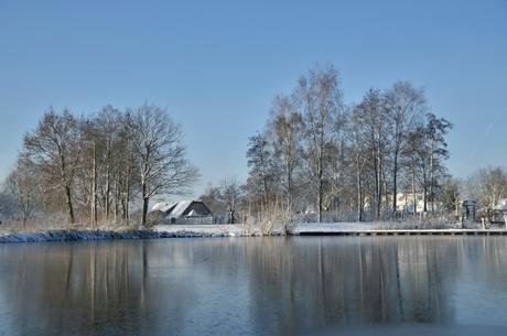 Kinderboederij in sneeuw