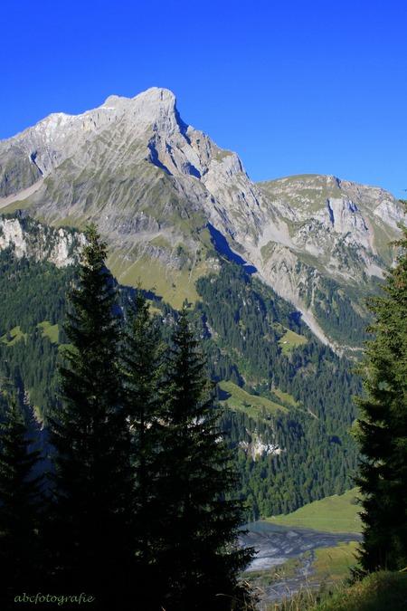 Tschingelsee - Voor de afwisseling eens een opname uit het Kiental. Uitzicht vanaf de flanken van de Abeberg over Tschingelsee. Graag jullie reactie, met name op mi - foto door GandalfB op 21-01-2009 - deze foto bevat: bomen, bergen, meer, alpen, kiental, tschingel