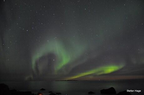 Noorderlicht boven de Lofoten, Noorwegen