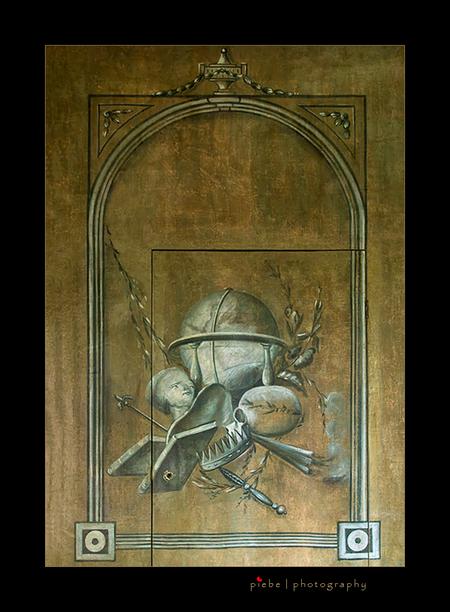Wandschildering Fraeylemaborg - Dit is een originele wandschildering van een muur binnen de borg Fraeylema. Goed te zien is dat er ook nog een deur in zit. Ik vind dit echt geweldig - foto door Piebe op 23-10-2012 - deze foto bevat: groningen, borg, deur, muur, binnen, slochteren, decor, authentiek, fraeylema, wandschildering, Frayelemaborg, piebe van den berg