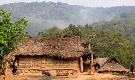 dorpssfeer Laos