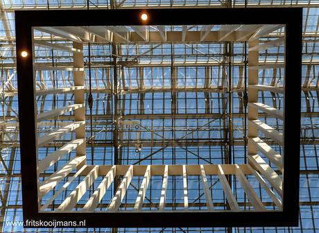 Raamwerk in hal Rijksmuseum Amsterdam
