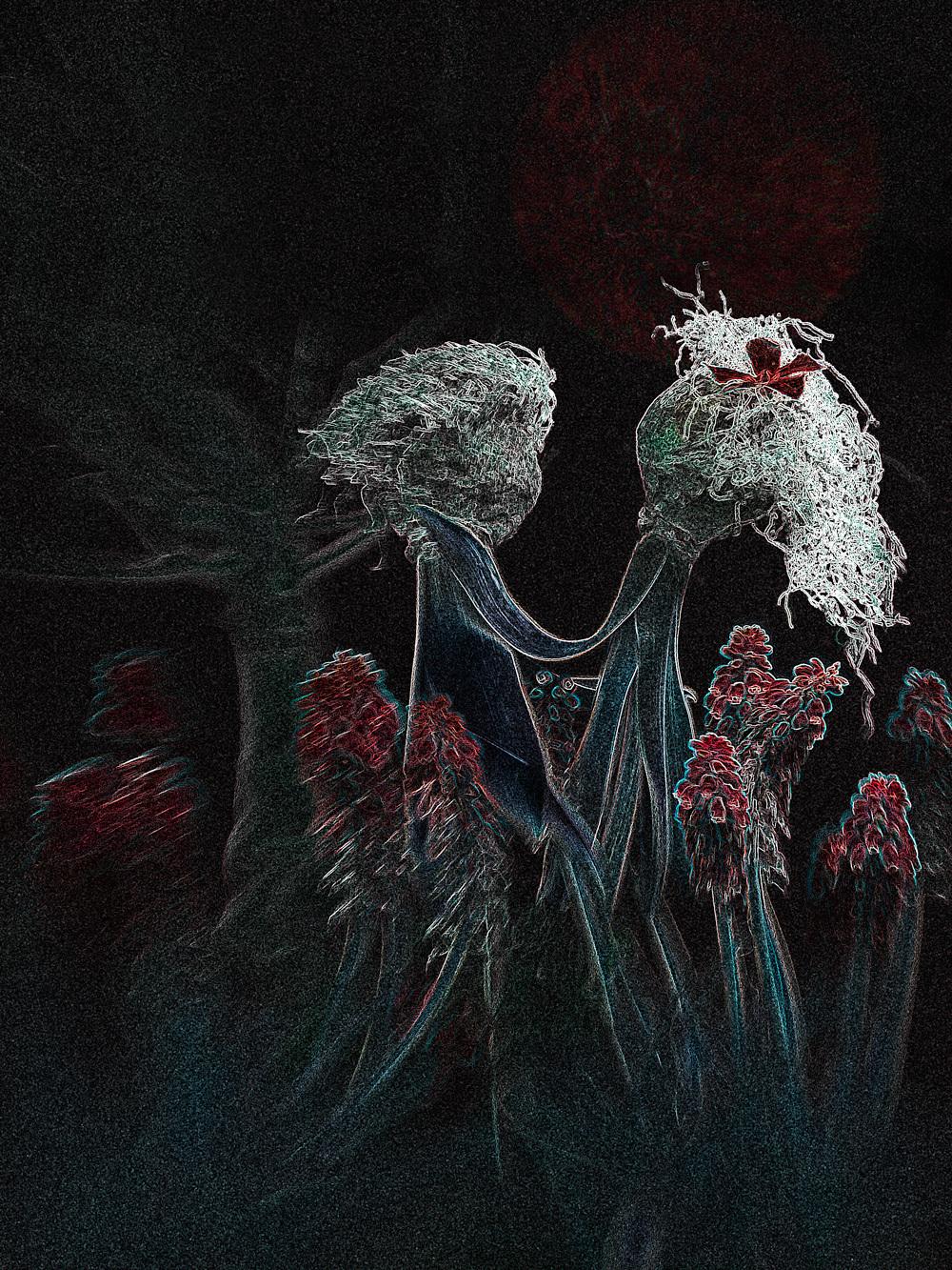 Dark Romance - Bewerking uit eigen beelden, originele foto met lensbaby - foto door anholts op 21-04-2011 - deze foto bevat: rood, dark, tuin, bewerkt, hyacint, voorjaar, kunst, stel, verliefd, romantiek, bloed, druifjes, duister, bloembollen, romantisch, romance, grafische, digiart, iefde