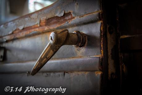 rusty door handle.