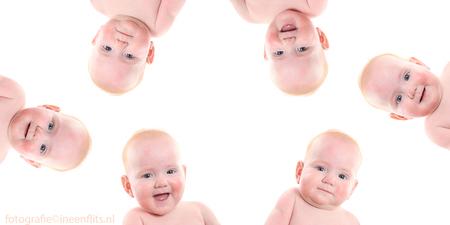 Baby Yar - Yar heb ik vanaf de eerste maand gefotografeerd. Inmiddels is zij 6 maanden.  Ik word hier blij van! - foto door Kirsten Groeneveld op 03-03-2015 - deze foto bevat: flits, kind, baby, meisje, studio, fotoshoot