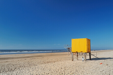 Yellow on the beach
