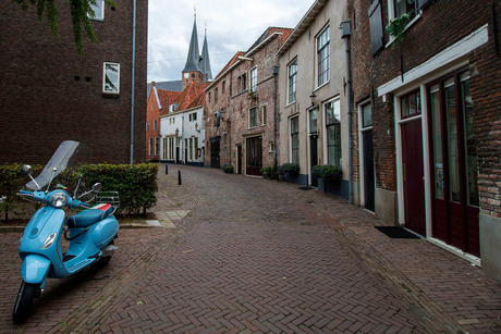 Oude straat in Deventer