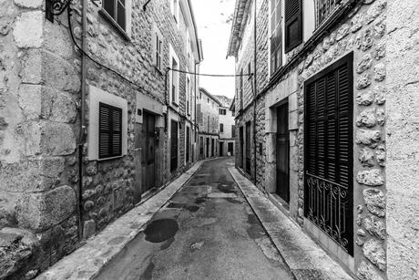 Straatje in Sóller Mallorca