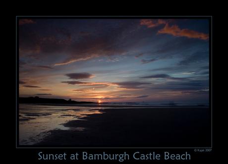 Sunset at Bamburgh Castle Beach