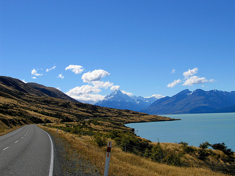On our way to Mount Cook