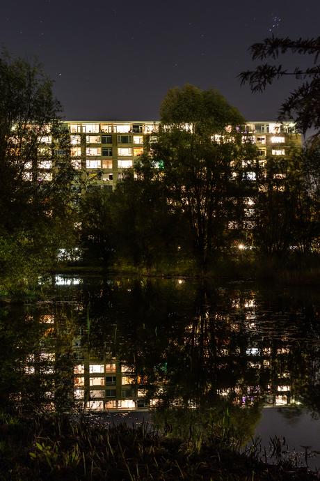 Avondfoto weerspiegeling TorenflatRBF_5326-2