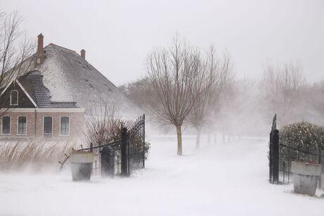Sneeuw en vooral veel wind.