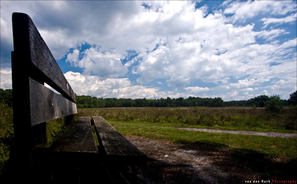 The Bench - Vandaag weer met de EF-S 10-22mm f/3.5-4.5 USM op pad gegaan.  Natuurlijk gebruikgemaakt van de circulaire polarisatie filter. In een 100% crop is - foto door Vinnyme op 15-06-2008 - deze foto bevat: blauw, panorama, groothoek, leersum, ca, polarisatie, 10, cs3, vinnyme