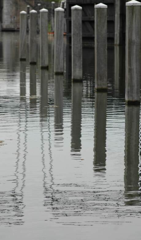 Weerspiegeling in water