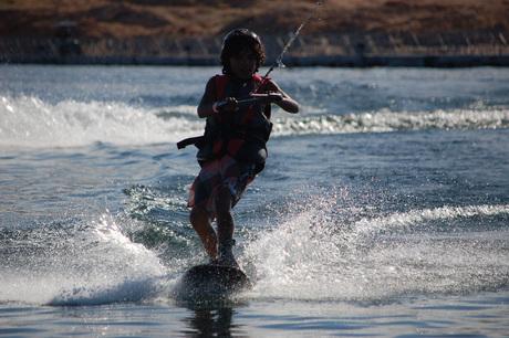 Eerste keer wakeboarden