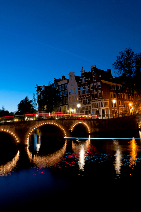 Amsterdam by night.
