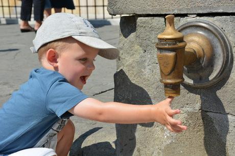 Spelen met water, Siena, Fonte Gaia