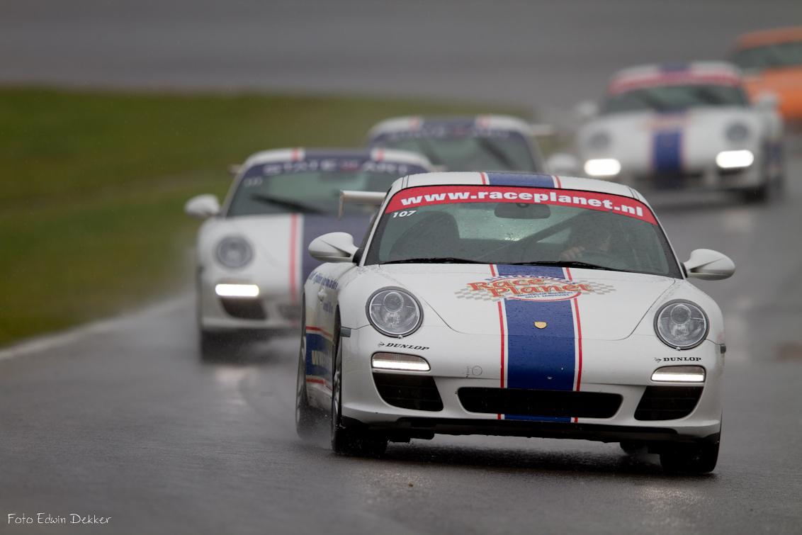 Porsche trein - Regen race - foto door ed71 op 27-09-2012 - deze foto bevat: canon, zandvoort, porsche, regenrace