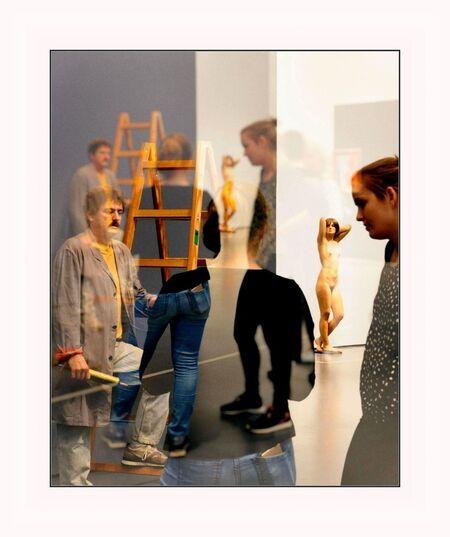 De Schilder . . - ROTTERDAM Kunsthal - Hyper realisme Sculpturen. - foto door 1103 op 13-04-2018 - deze foto bevat: fantasie, kunsthal rotterdam hyper realisme sculptuur