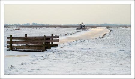 Winter in de polder - - - foto door Siem67 op 14-01-2010 - deze foto bevat: sneeuw, winter, polder, zaanstreek, jisp