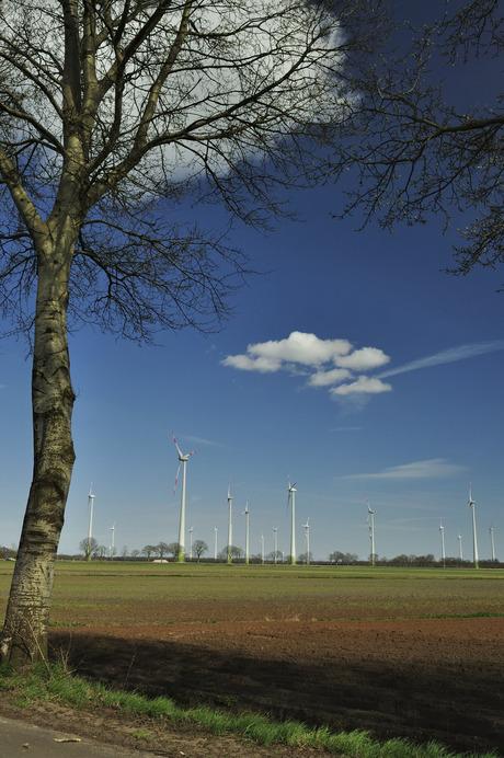 Windmolenpark Duitse grens bij Ter Apel