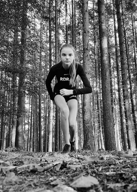 Running in the woods