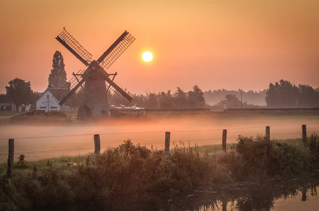 Dutch Windmill Landscape