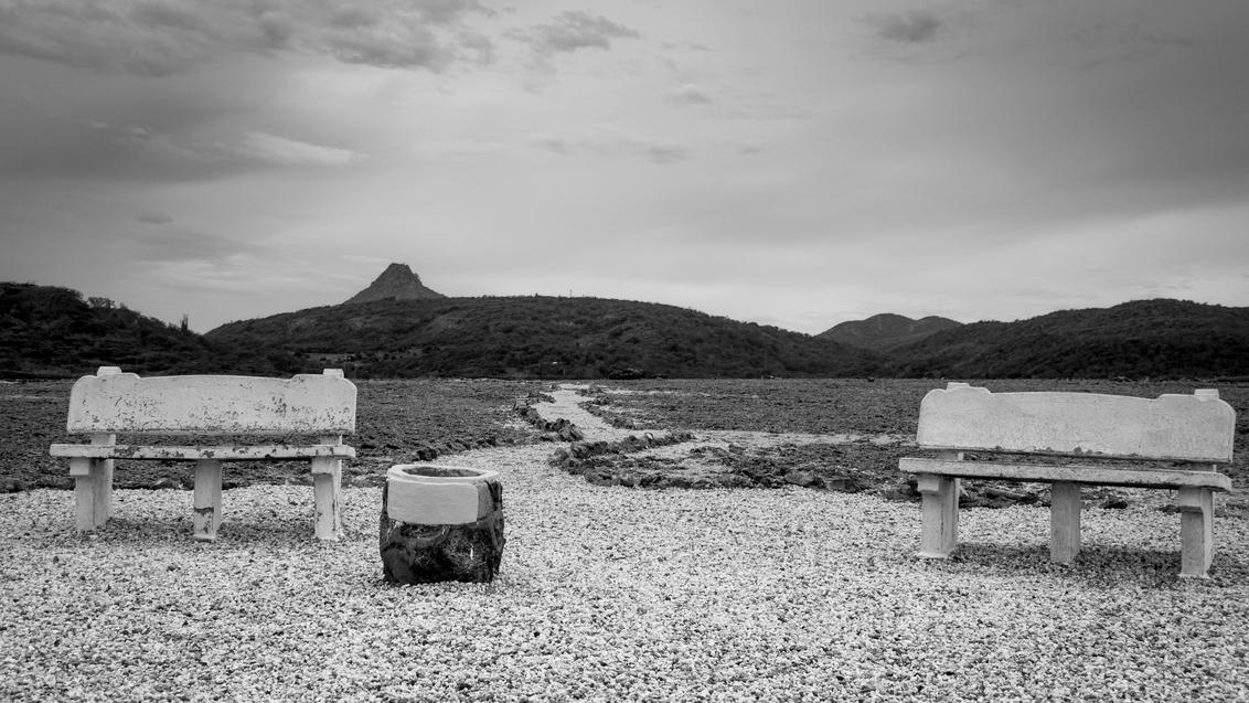 Curacao Westpunt - - - foto door Wanderjjw op 02-01-2017 - deze foto bevat: panorama, natuur, zwartwit, curacao