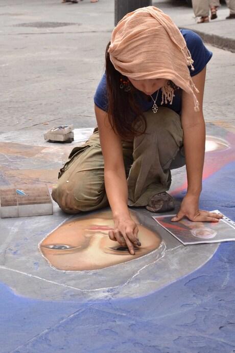 straatkunst in Florence