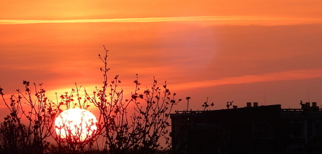 Zonsondergang......
