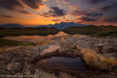 Lac Noir zonsondergang