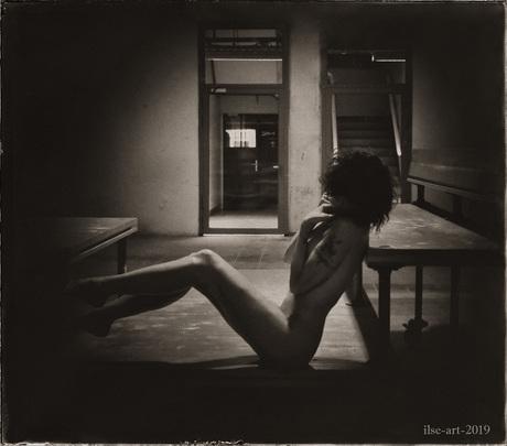 Thinking of sensitive memories - selfportrait